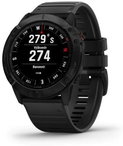 Garmin Garmin fenix6X PRO Glass, Black/Black Band (MAP/Music) Karórák
